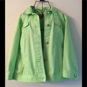 Chaps Denim Green Jacket